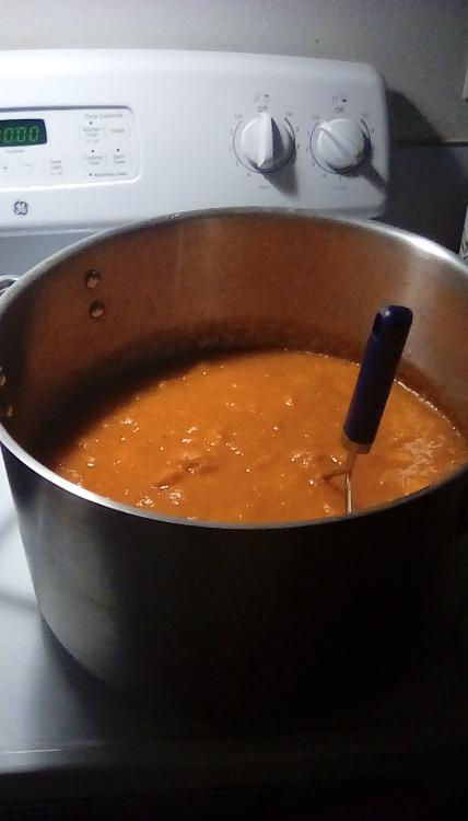 Apricot pancake sauce in the making. 29 July 2020.